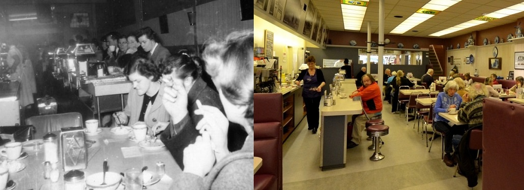 Horsing Around Victoria Dutch Bakery Coffee Shop 1956 & 2014