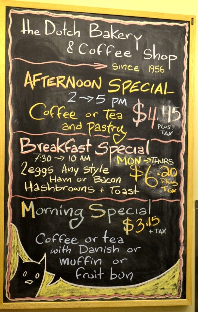 Horsing Around Victoria Dutch Bakery Coffee Shop Specials
