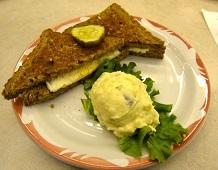 Horsing Around Victoria Dutch Bakery Fried Egg Sandwich