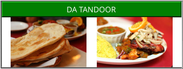 Da Tandoor Victoria BC Indian Restaurant