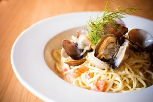 Clam Linguine by Ferris' Grill & Garden Patio Victoria BC