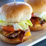 Glo Restaurant and Lounge, Victoria, BC - Bacon Cheddar Sliders by Glo