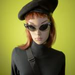 Horsing Around Victoria Black Beret Midge Mod