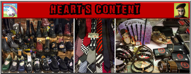 Heart's Content Victoria BC - Clothes for Punks Mods and Rockers