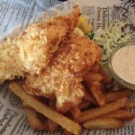 Potato Crusted Fish and Chips - Bard and Banker Pub